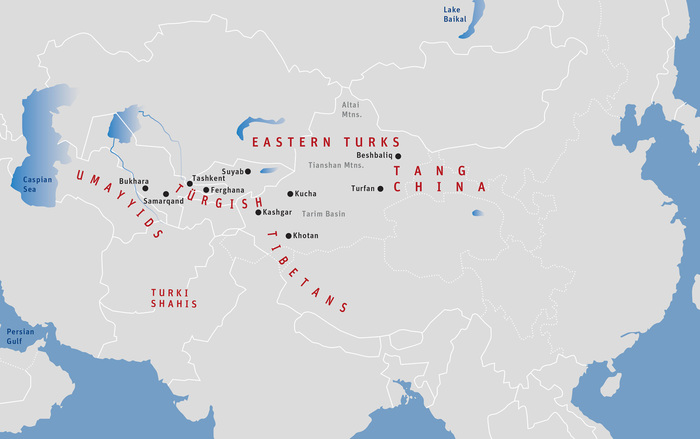 Map 10: Central Asia, Approximately 720 CE