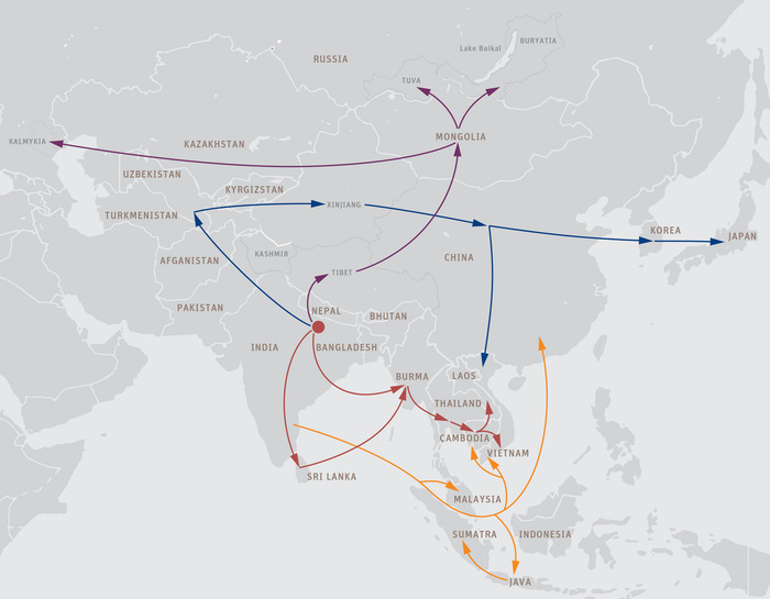 Spread of Buddhism in Asia — Study Buddhism