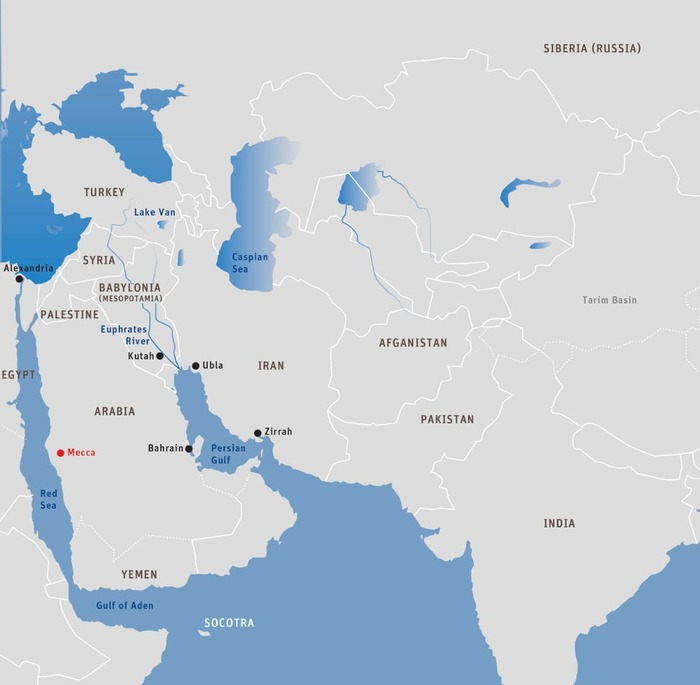 Map 4: Early Indian Settlements in West Asia and North Africa